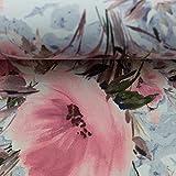 Swafing Softshell Fiete Blüten rosa-Rauchblau 50x145 cm