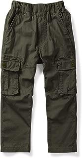 Mesinsefra Boy Cargo Pants Casual Trousers Solid Color Slacks
