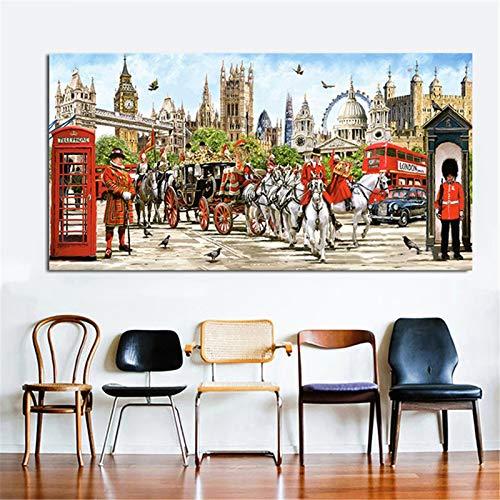 5D DIY pintura de diamante Kit completo taladro Animal del castillo adultos niños Cristal rhinestone Bordado punto de cruz Mosaico Artesanía para decoración de la pared del hogar Square Drill,50x100cm