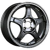 【適合車種:ホンダ N WGN(JH系 NA車 2WD)2013~ サマータイヤセット】 DUNLOP LEMANS V LM5 165/55R15 夏用タイヤとホイールの4本セット アルミホイール:SSR GT X03_マシンドグラファイトガンメタリック+スモーククリア 5.0-15 4/100 (15インチ サマータイヤセット)