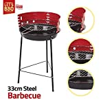 Taimani Portable Round Barbecue Grill- 33 CM Steel