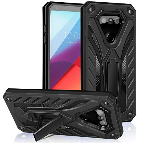 AFARER Case Compatible with LG G5 5.3 inch, Military Grade 12ft Drop Tested Protective Case with Kickstand,Military Armor Dual Layer Protective Cover - Black