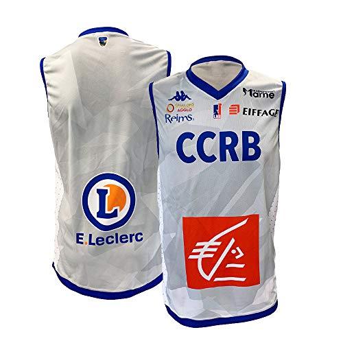 CCRB Reims Ccrb - Camiseta de Baloncesto Oficial para el año 2018-2019, Unisex Adulto, Color Gris, tamaño FR : 3XL (Taille Fabricant : 3XL)