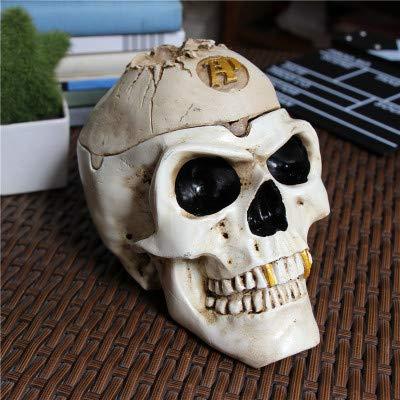Aschenbecher in Form eines Totenkopfschädels,Totenkopf-Aschenbecher Schädel Halloween Harz Totenkopf Aschenbecher Gothic Deko Figuren Skull Gruselige Dekoration
