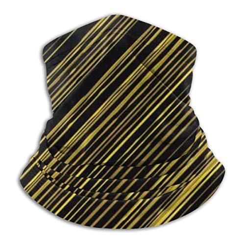 Zjipeung - Funda para la cara, diseño de rayas, color negro, para el viento, para el polvo, esquí, pasamontañas