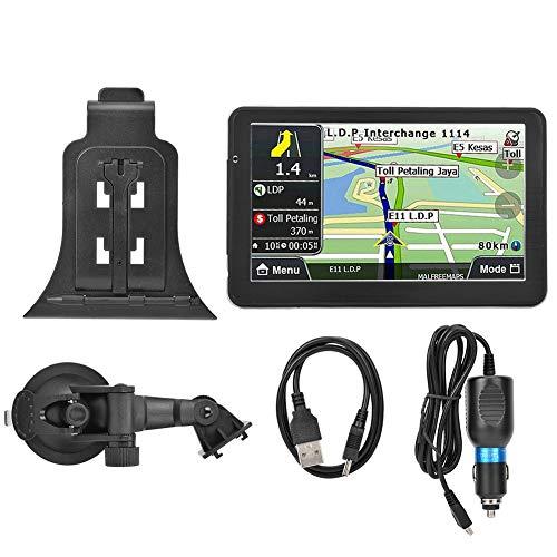 718-8g Navigatore GPS 7 Pollici Posizionamento GPS per Auto MP3 1G DDRIII, Navigatore GPS Touch HD da 7 Pollici da 8 GB, Guida Vocale Trun-by-Turn, Promemoria Limite di Velocità, con Bluetooth 4.0