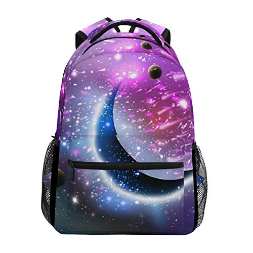 poiuytrew Space Moon Backpack Students Shoulder Bags Travel Bag College School Backpacks