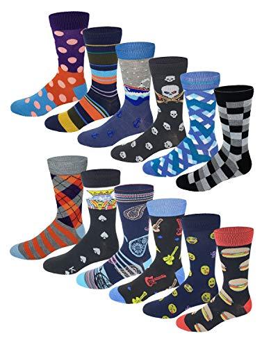 12 Pairs / 6 Pairs Colorful Fashion Design Dress socks...