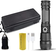 LED Flashlight USB Rechargeable Elastic Zoom Shockproof high Power Rechargeable Flashlight