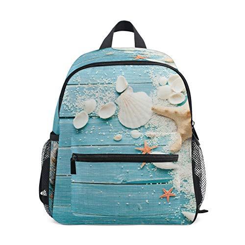 Summer Shells Star Schulrucksack, Studentententasche, für Kinder, Reisen, Tagesrucksack, Mädchen, Jungen, 3–8 Jahre alt Kleinkind Vorschule