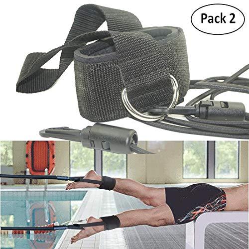 AUXPhome Wasser-Widerstandsgürtel, Schwimm-Trainingsgürtel, Schwimmen, Knöchelriemen, Stationär, Schwimmen, Leine – New StyleSTRONGF