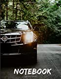 Cadillac Black Notebook: Wide Ruled Notebook 120 pages 8.5x11',perfect for men, women, boys and girls and for any car lovers enthusiast