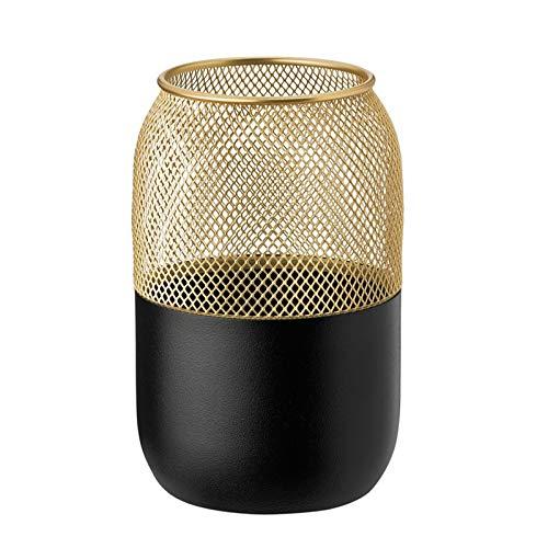 Stelton 429 Collar - Teelichthalter - Kerzenhalter - Gross - schwarz - Messing