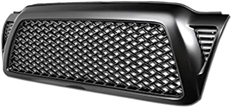 R&L Racing 2005-2011 For Toyota Tacoma Matte Black Finished Sport Mesh Hood Bumper Front Grille Grill Cover