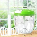 CNFQ - Manueller Zerkleinerer für Küche Food Blender Gerät zum Schneiden von Obst und Gemüse Knoblauchpresse Vert Plus