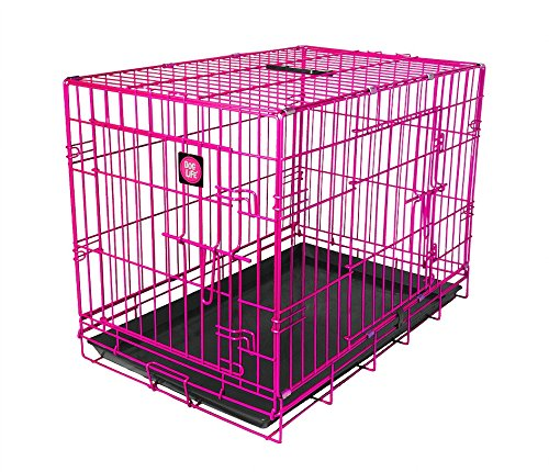 James & Steel My Pet Dog Crate, Pink, 30-Inch Basic Crates