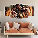 KOPASD Bilder Mortal Kombat Scorpion Gemälde 150X80 cm 5