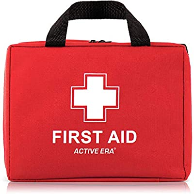 Active Era First Aid Kit - All-Purpose 260 Pieces First Aid Kit for Camping and Hiking with Medical Supplies and Handle - First Aid Kit for Home, Cars