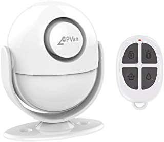 CPVAN Motion Sensor Alarm, Remote Control Wireless Infrared DIY PIR Motion Detector Burglar Alarm System -125dB-Battery Operated- Indoor Ideal of Shop/Office/Home Security-CP2