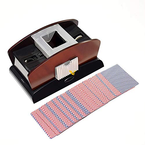 2-Deck Automatic Card Shuffler,Electric Card Shuffler, Attery Operated,for Home & Party Use