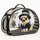 パノラマ透明スペースポータブルペットカプセル、ペットキャットバッグ透明ショルダーメッセンジャーバッグ、旅行者猫犬キャリアショルダーバックパック Jialele (Color : 1)