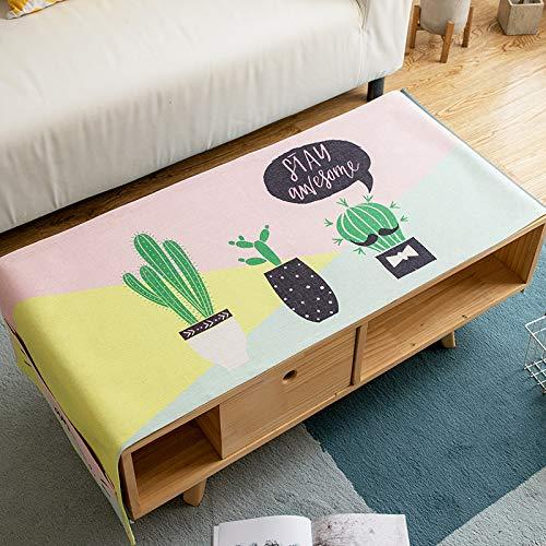 YXDZ Tovaglia Da Tavolino In Stile Nordico Con Tovaglia Da Salotto Rettangolare In Tessuto Per Tv
