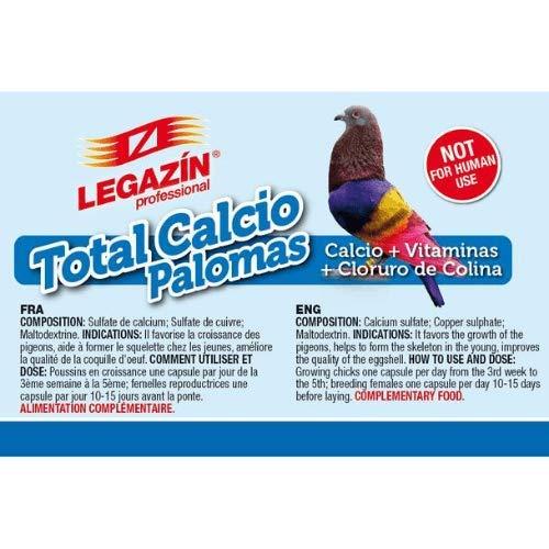 Legazín Calcio+ Vitaminas+Cloruro de Colina para Palomas Cápsulas