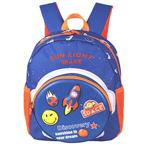 Mochila escolar para niños y niñas, mochila escolar con clip de seguridad para niños, mochila para viajes, guardería, ajuste preescolar, 30 x 25 x 13 cm