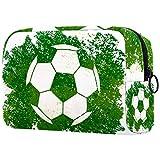 Neceseres para Maquillaje de niños Fútbol Fútbol Verde Deportes Animales Bonitos Bolsa de Almacenamiento de Viaje de Impresa Personalizada 18.5x7.5x13cm