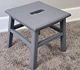 eHemco Hardwood Footstool in Grey-12