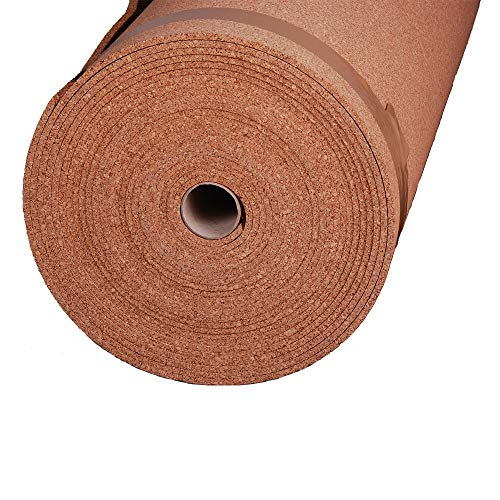 Manton Cork Underlayment, 100% Natural, 4' x 50' x 6mm - Rolls 200 Sq. Ft.