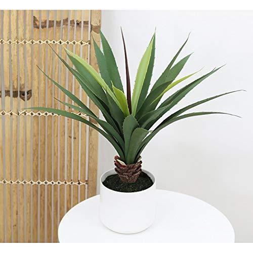 Línea Deco | Aloe Artificial | 50 cm | Planta verde artificial | Planta grasa suculenta tropical | árbol | Decoración del hogar | casa oficina