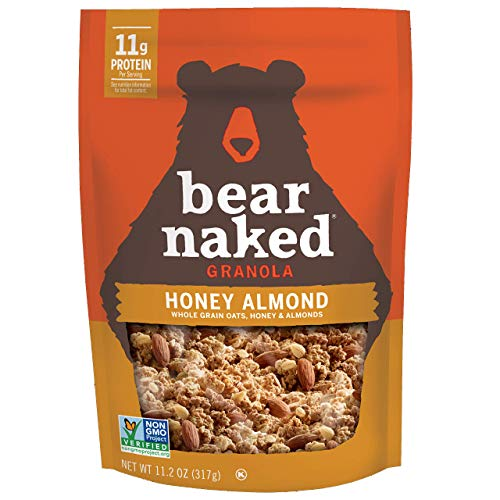Bear Naked Honey Almond Granola - Non-GMO, Kosher, Vegetarian Friendly - 11.2 Oz (Pack of 6)