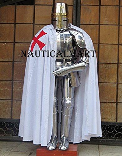 NauticalMart Larp Armour 15th Century Wearable Full Suit Armor Medieval Knight Combat Body Armour Suit