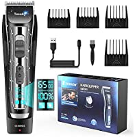 Tesoky Waterproof Professional Hair Clipper with LED Screen
