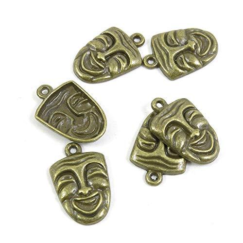 Antieke Bronzen Tone Sieraden Charms 181538 Smiley gezichtsmasker ambacht kunst maken Crafting Kralen Antiek brons