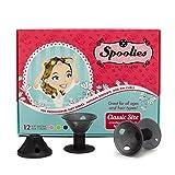 Original Spoolies Hair Curlers, Medium Size – 12...