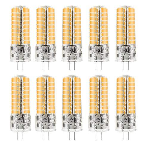 MENGS 10 Stück G4 6W LED Lampe Kaltweiß 6500K AC/DC 12V 72x5730 SMD Mit Silikon Mantel