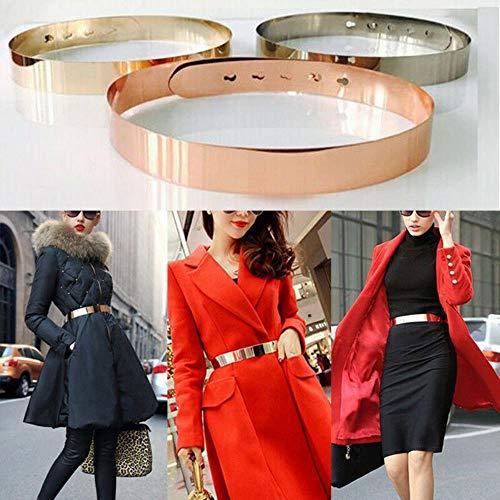 Sexy dame gouden riem voor vrouwen elastische spiegel metalen riem metalen bling plaat brede band buikband vrouwelijke jurk accessoires