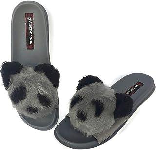 NEW AMERICAN Women Fur Slippers