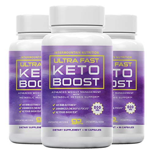 (3-Pack) Ultra Fast Keto Boost, Ultra Fast Keto Boost Fuel, Ultra Fast Keto Pill, Advanced Ketogenic Blend. Ketosis Booster, The Official Brand Keto Dietary Supplement