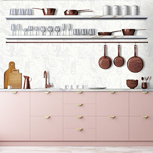 Contour wit glitter marmer tegel keuken badkamer behang