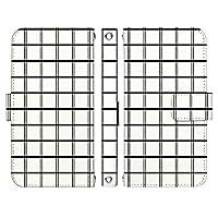 Xperia 1 III A101SO ケース [デザイン:1.グラフチェック/マグネットハンドあり] シック xperia1iii エクスペリア1 マーク3 a101so 手帳型 スマホケース スマホカバー 手帳 携帯 カバー