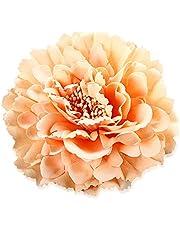 iKulilky Haar Clip Dames, Bloemen Haar Accessoires,Bloem Haar Clips Haar Clip Broche Straw Hoed Accessoires Jurk Accessoires voor Bruiloft Strand Vakantie - Eén maat Pink#4