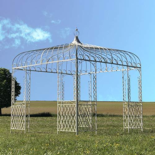 L'ORIGINALE DECO Grande Tonnelle Pergola Fer de Jardin Blanc 300 cm x 280 cm x 280 cm