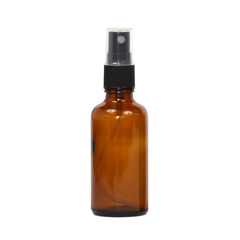 加入石膏熱心スプレーボトル ガラス瓶 50mL 遮光性ブラウン(アンバー) おしゃれアトマイザー ミスト空容器br50g