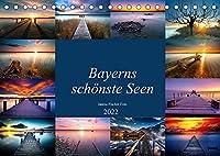 Schoene Seen in Bayern (Tischkalender 2022 DIN A5 quer): Bayerns schoenste Seen (Monatskalender, 14 Seiten )