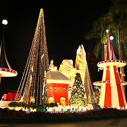 100 Mt 600 Led Weihnachtslicht Im Freien Wasserdichte 220 V Lichterketten Festliche Hochzeit Girlande Dekoration