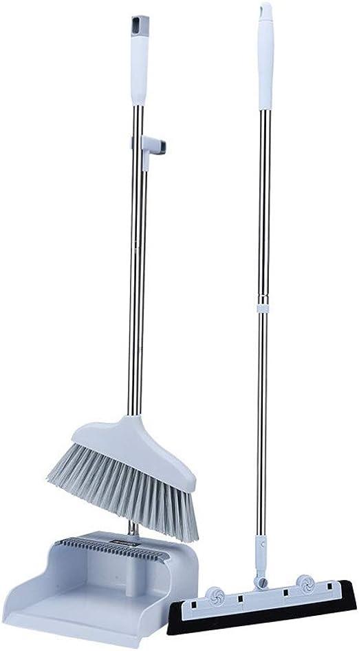 Blue Recogedor y cepillo conjunto con capucha de plástico Pan polvo limpieza piso fuerte conjunto
