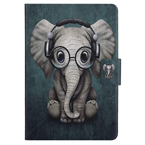 Ekakashop Fashion Ultra Slim Tavoletta PU Custodia in Pelle Borsetta Stile Borsa Wallet Flip Folio Stand Case Cover Custodia Compatibile con iPad Mini 1 2 3 4 Universale, Elefante